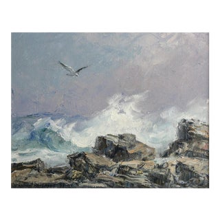 1994 Richard Hasenfus Seascape Oil on Canvas Painting