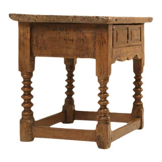 Antique Spanish Walnut End Table