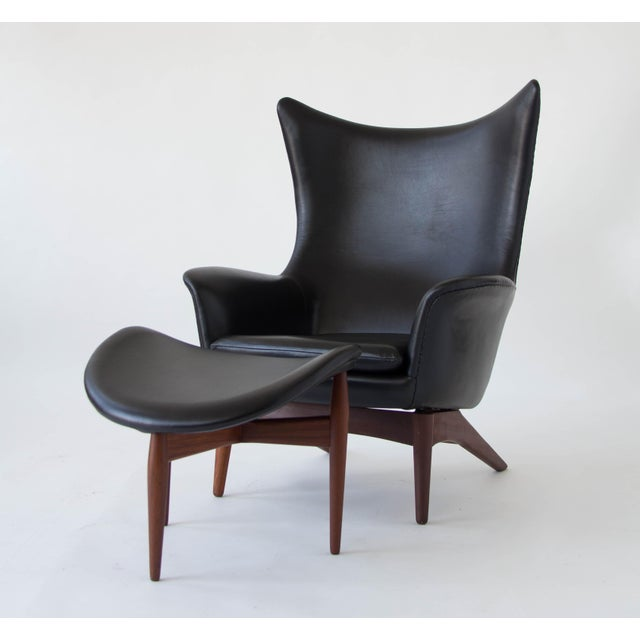 H.W. Klein Leather Reclining Lounge with Ottoman - Image 4 of 11