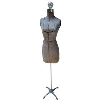 Vintage Gray Dress Form Floor Lamp