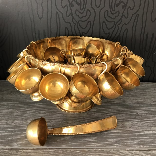 Brass Punchbowl Set - 26 Piece - Image 2 of 11