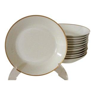 Limoges Gold Rim Soups Bowls - Set of 12