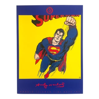 "Andy Warhol Rare 1st Edition 1989 Original Lithograph Poster ""Superman"", 1981"