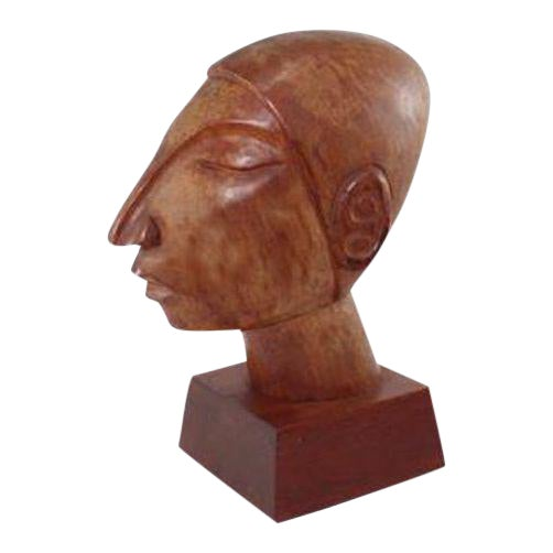Vintage Mexican Modernist Wood Sculpture by Jose Pinal - Image 1 of 5