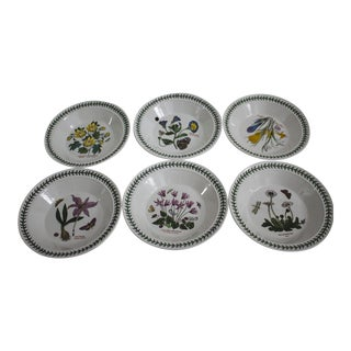 Set of 6 Portmeirion Botanic Garden Soup Bowls