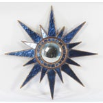 Image of Line Vautrin Blue Glass Sunburst Mirror