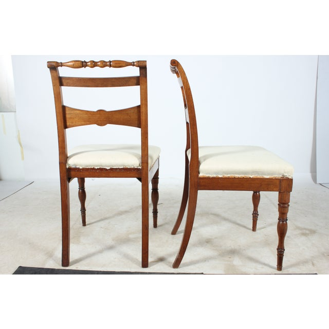 English Regency-Style Hall Chairs - A Pair - Image 3 of 4