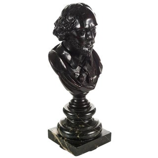 Carved Wooden Shakespeare Bust