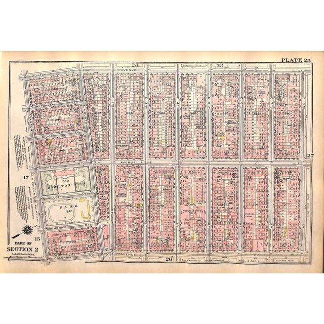 Image of 1927 New York City, LES, Hamilton Fish Park Map