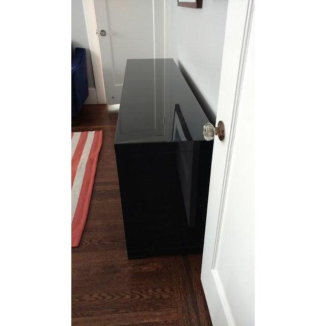Medium Indigo Lacquered Cabinet Credenza - Image 6 of 8
