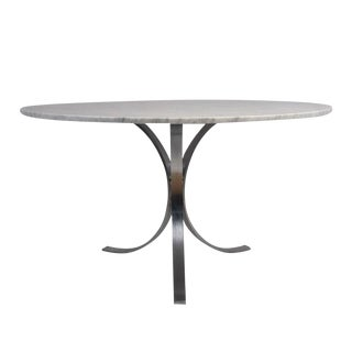 Mid-Century Modern-style Chrome Dining Table