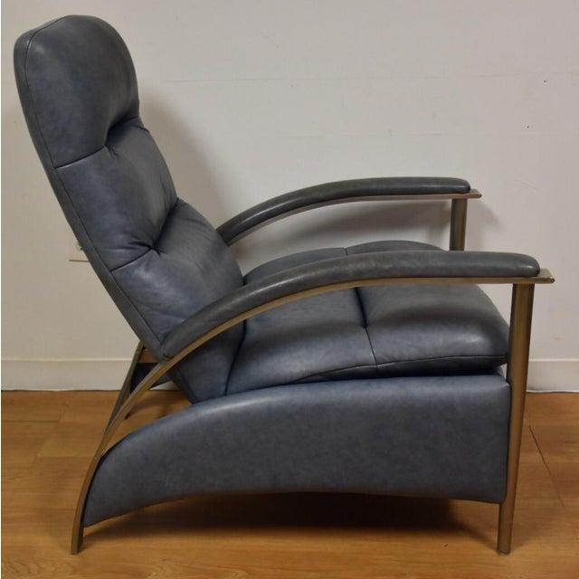Ethan Allen Modern Leather Recliner Chairish
