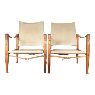Kaare Klint Safari Chairs - A Pair
