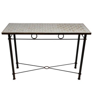 Large Mosaic Console Table