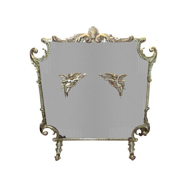 Victorian Brass Fireplace Screen Chairish
