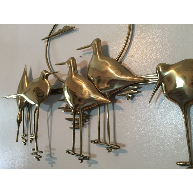 Mid-Century Sandpiper Wall Sculpture - Image 4 of 6