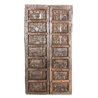 Antique Carved Tribal Door