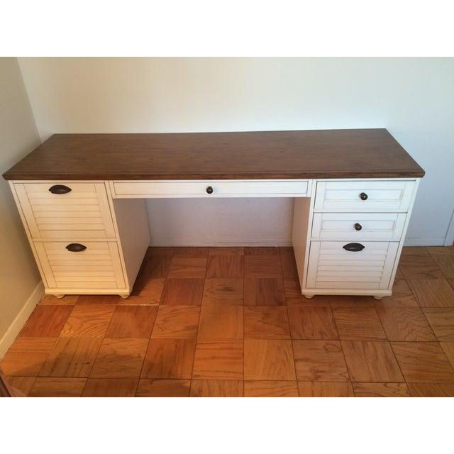 Image of White Pottery Barn Desk