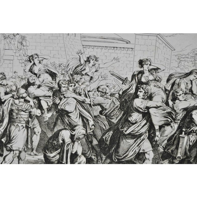 """Bartolomeo Pinelli Engraving """"The Sabine Rats Under the Rein of Romulus"""" c.1816 - Image 6 of 8"""