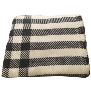 Large Checked Cashmere Throw