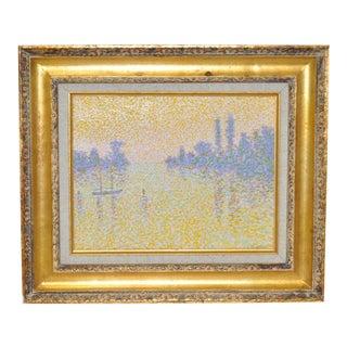 Pointillism Landscape Oil Painting by Ornut