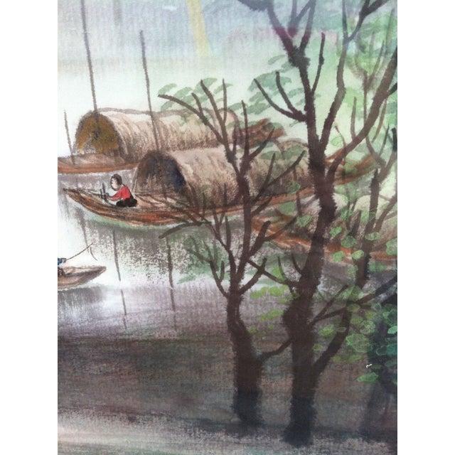 Teng Shu Ming River Scene Painting - Image 3 of 4