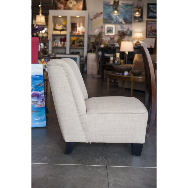 Hiatt Armless Cream Chair - Image 2 of 5