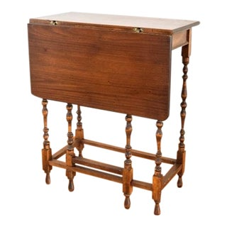 Antique Drop Leaf Accent Table