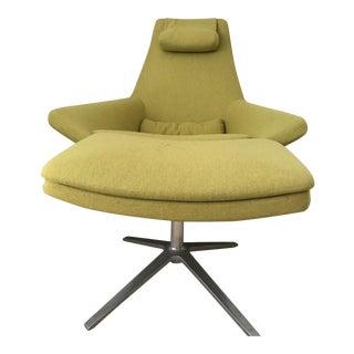 """B & B Italia """"Metropolitan"""" Chair & Ottoman"""