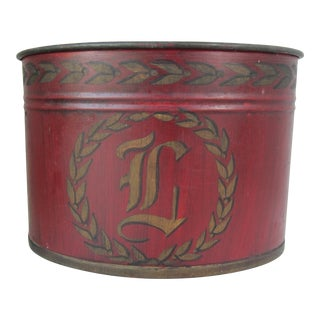 "Monogram ""D"" Tole Container Planter"