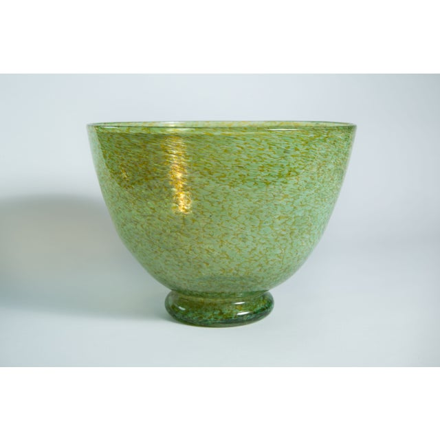 Hand-Blown Green Bowl - Image 3 of 4