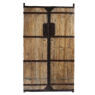 Mongolian Elm Wood Door
