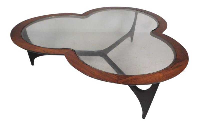 Vintage Modern Three Leaf Clover Coffee Table By Lane Furniture