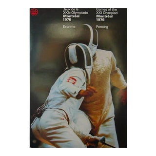 1976 Montreal Olympics Fencing Poster