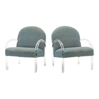 Pace Collection Lucite Armchairs, Pair