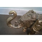 Image of Vintage Brass Asian Elephant Statue