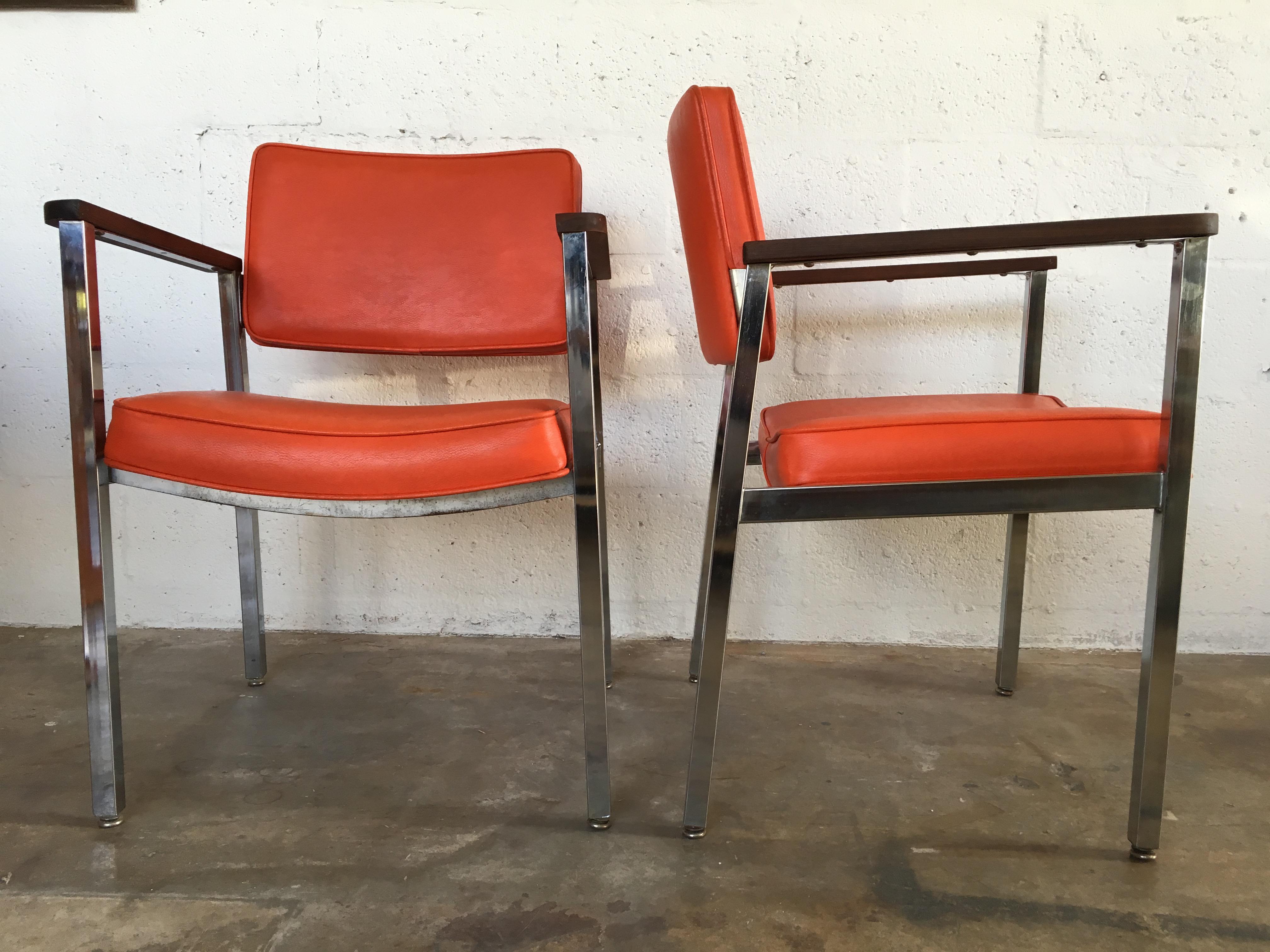 mid century modern office. 1960s Vintage Haskell MidCentury Modern Office Chairs A Pair Image 2 Of Mid Century
