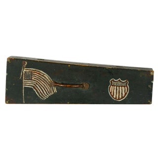 FOLK-PAINTED, 19TH CENTURY VIOLIN CASE, WITH EXCEPTIONAL FOLK FLAG AND SHIELD