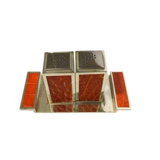 Salt & Pepper Shakers & Tray - Set of 3