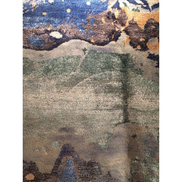 Modern Silk Rug: Pasargad NY Hand Knotted Modern Silk Rug - 8' X 10'