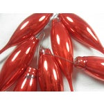Image of Red Glass Icicle Ornaments - Set of 8