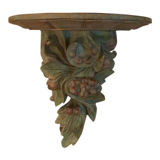Carved Wood Grapevine Wall Bracket Shelf