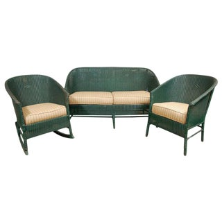 Suite of Wicker Seating - 3 Pieces