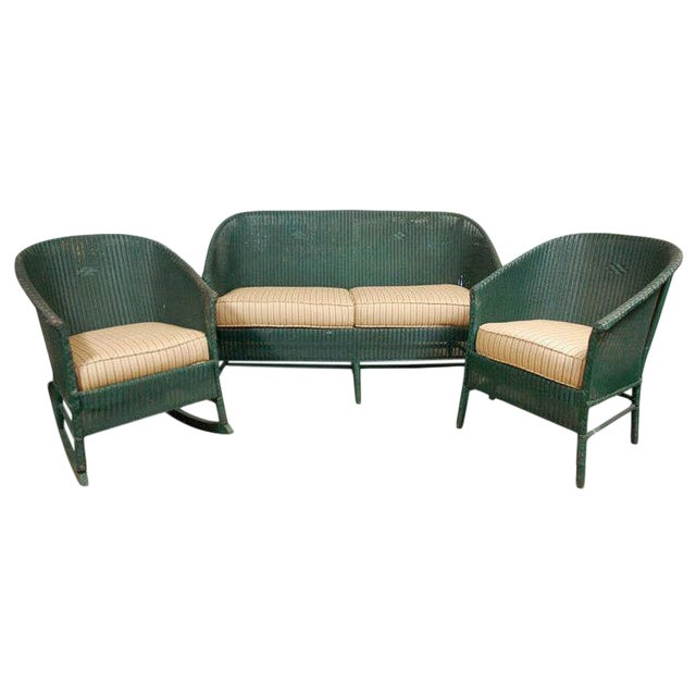 Suite of Wicker Seating - 3 Pieces - Image 1 of 9