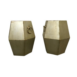 Geometric Side Tables - a Pair