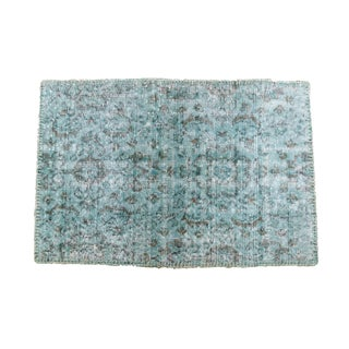 Turkish Overdyed Dark Green Rug - 2′ × 3′