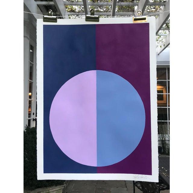 """""""Indigo & Violet Forever"""" Acrylic Painting - Image 3 of 5"""
