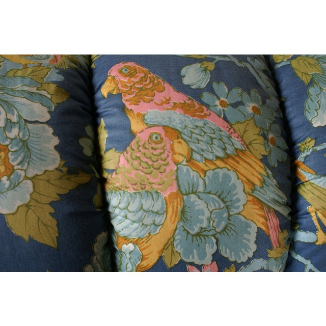 Tufted Loveseat with Parrot Upholstery - Image 5 of 5