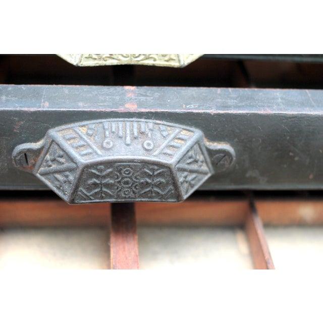 Antique 20-Drawer Letterpress Cabinet & Wood Type - Image 8 of 9