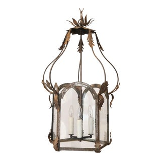 19th Century French Tôle and Iron Lantern